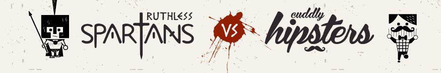 Le jeu du jour : Spartan VS Hipsters